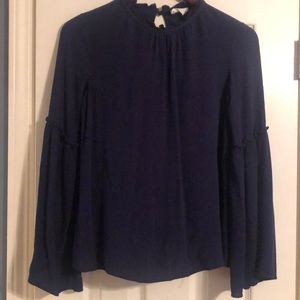 Used Women's navy blouse, size XS.  Good condition